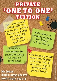 15 Cool Tutoring Flyers 9 | tutoring | Pinterest | Pto flyers and ...