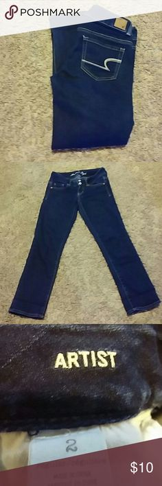 American eagle Nice jean sz 2 Style is called artist No holes no stains American Eagle Outfitters Jeans Ankle & Cropped