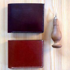 Leather wallets men, card-collection, cartera cuero, veg tanned, leather card holder, wallet, billetero-tarjetero, clasic, sewing by hand. de VEINTEDEDOS en Etsy