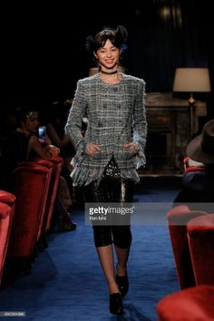 Ayami Nakajo showcases designs by CHANEL on the runway during the CHANEL Metiers D'art Collection Paris Cosmopolite show at the Tsunamachi Mitsui Club on May 31, 2017 in Tokyo, Japan.