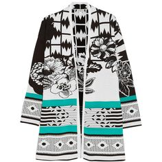 Etro Intarsia cotton cardigan (6.065 ARS) ❤ liked on Polyvore featuring tops, cardigans, jackets, outerwear, sweaters, coats, cardigan top, print cardigan, print top and patterned cardigans