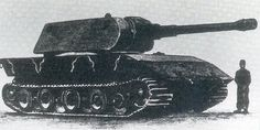 A 1:1 scale artist drawing of the E-100 from 1945