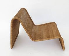 Pair of Tito Agnoli Wicker or Cane Sculptural Lounge Chairs image 4
