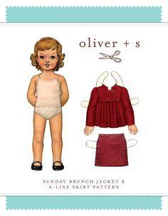Sunday Brunch Jacket + Skirt - PDF Pattern - Oliver+S - $13.95 : Whimsical Designs