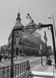 Metro stop, Madrid