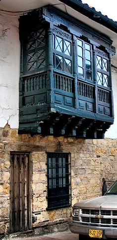 Colonial balconies and windows like these can be found all over Colombia. The influence on the architecture is still very evident and has marked the appearance of many places, especially villages of Colombia. The Beautiful Country, Beautiful World, Ecuador, Colombia South America, Chili, Argentine, Through The Window, Largest Countries, Exotic Places