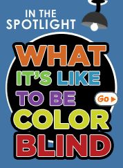 """Colorblindness - """"My husband, father, sister and daughter are all colorblind. My husband watched this clip with me and said """"That is right on!""""' said a pinner"""