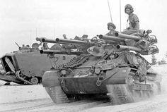 M50 ontos in Nam 1965 Marines Vietnam  Charlie Co.3rd anti-tank bn, Hill 86 base camp