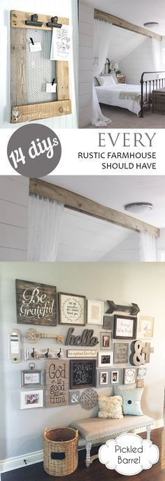 DIY Rustic Home, Farmhouse Decor,  Easy Ways to Add Rustic Touches to Your Home,
