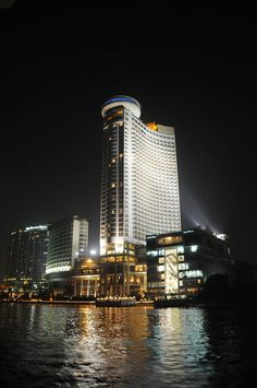 Le Meridian Hotel from the River Nile River ~ Cairo, EGYPT.