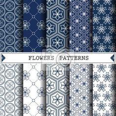 """Stickers """"étendard, peinture, photographique - flower vector pattern,pattern fills, web page ,surface"""" ✓ Pose facile ✓ 365 jours pour le renvoi ✓ Regardez d'autres motifs de cette collection !"""