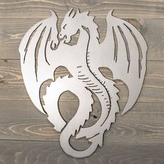 Flying Dragon Metal Sign Raw metal ready to hang Please contact us for different sizes or custom orders. Stencil Wood, Stencil Art, Stenciling, Pumkin Carving, Wood Carving, Corte Plasma, Plasma Machine, Paper Butterflies, Scrap Metal Art