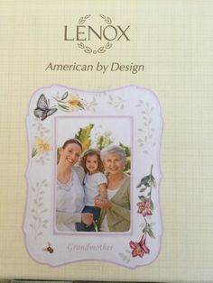 """Lenox Porcelain Butterfly Meadow """"GRANDMOTHER""""  4""""x 6"""" Picture Frame ~NIB"""