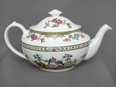 #Spode, Elysee, large #vintage teapot, c1980s, FREE post UK. Oooo, time for tea, well actually I'm a coffee kinda gal, but love this pretty pattern.
