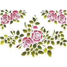Resultado de imagen para stencil de rosas para imprimir