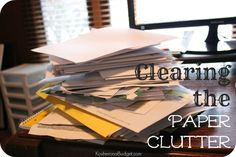 """Clearing the Paper Clutter. A quick Google search of """"how do I organize all the paper in my house"""" nets tens of thousands of returns. I guess there's some comfort in knowing I'm not the only one with this problem?"""