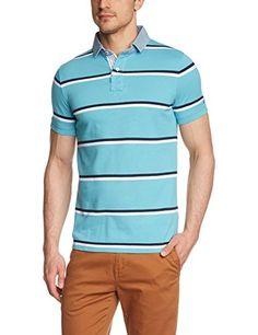 Tommy Hilfiger Herren Poloshirt HUTTON STP POLO S S SF, Gestreift, Gr. Large, Mehrfarbig (MAUI BLUE CLASSIC WHITE NAVY BLAZER- 826)