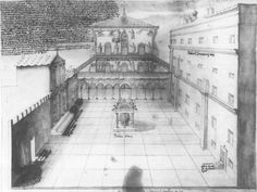 Domenico Tasselli Facade of Old St. Peter's Before 1619-20, or c. 1611 Archivio del Capitolo di San Pietro A 64 ter, fol. 10r, Rome, Italy Drawing in ink and wash