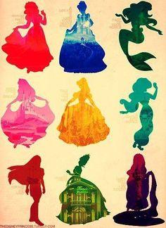 Disney Princess Sillhouete