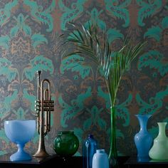 ALDWYCH Wallpaper. Modern styled Damask wallpaper (taken from the Cole & Son…
