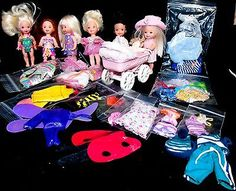 Retro-Tiny-Steps-Kelly-Buggy-Set-5-Little-Sister-Doll-Clothes-Costumes-36-PC-LOT