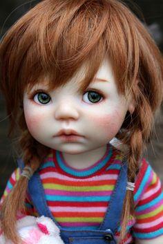 saffi , faceup by ollesya Beautiful Barbie Dolls, Pretty Dolls, Cute Dolls, Baby Illustration, Doll Painting, Vinyl Dolls, Old Dolls, Fairy Dolls, Doll Crafts