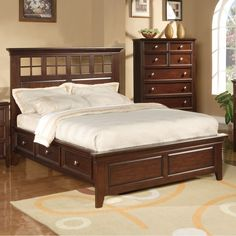Del Mar Wood Storage Bed in Chocolate by Winners Only | Humble Abode