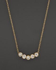 Zoë Chicco Yellow Gold Delicate Five Diamond Necklace, Diamond Pendant, Diamond Jewelry, Diamond Necklaces, Necklace Types, Gold Necklace, Dot Dress, Fashion Necklace, Jewelry Accessories, Womens Fashion