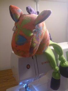 Fleece stuffed horse.