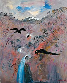 Arthur Boyd ~ The Magic Flute IV, 1990 Painter Artist, Australian Artists, Arthur Boyd, Paintings Famous, Amazing Art, Painting, Paintings I Love, Australian Painting, Visionary Art