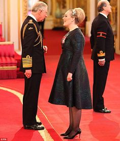 What did they chat about? The royal was seen chatting to Adele for several minutes after pinning on the award