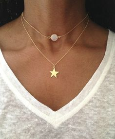 Gold Choker Necklace Gold Druzy Necklace Gold Choker Chain