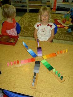 Inspired Montessori and Arts at Dundee Montessori: Sensorial Extention Color Gradation Work