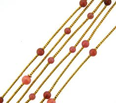 Pink Tourmaline & Gold Chain