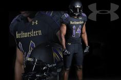 The Northwestern Wildcats' latest uniforms are certainly different. Northwestern put out a teaser Monday morning to announce that it would be unveiling a new look for its game against the Nebraska Cornhuskers on Oct. Football Uniforms, Football Helmets, Northwestern University, Nebraska Cornhuskers, New Outfits, New Look, Under Armour, Athletic, News