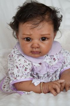 Ethnic biracial Reborn baby doll Devika from kit Lisa,Adrie Stoete