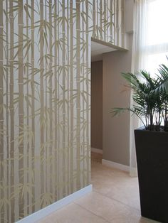 Stencil Bamboo Allover - Reusable wall stencils instead of wallpaper for DIY decor. $79.95, via Etsy.
