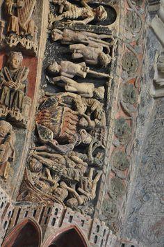 Colegiata de TORO - Zamora,  Detalle de la Portada de La Majestad.  Spain por canduela
