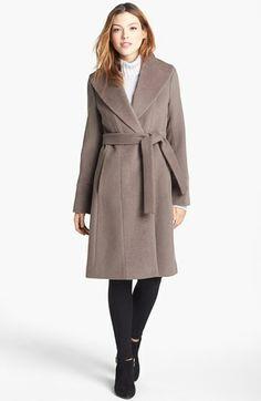 Trina Turk 'Julia' Wool & Alpaca Trim Wrap Coat available at #Nordstrom