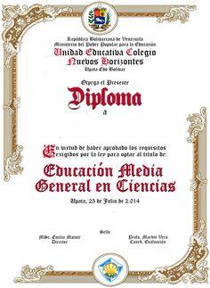 Diploma Nuevos Horizontes
