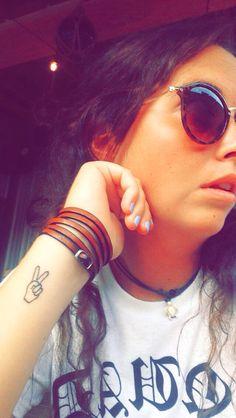 Peace sign arm tattoo #peace #sign #tattoo