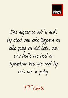 Die digter is ook 'n dief | TT Cloete | Afrikaans | skrywers | litnet