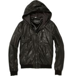 Dolce & Gabbana leather jacket.  #mens  #fashion  #jacket