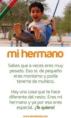 TE QUIERO HERMANO 15 de mayo: Día Internacional de la Familia www.dondeesta.com