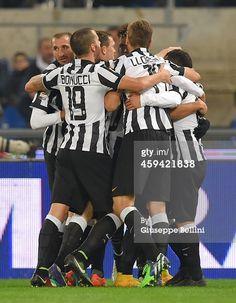 Carlos Tevez of Juventus FC celebrates after...