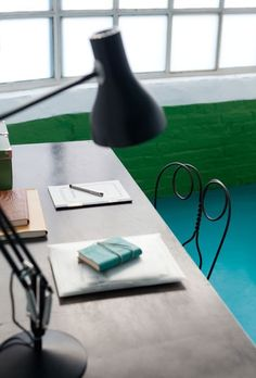 Green is said to make creative performance better, helping people brainstorm and think outside the box. Dulux Valentine, Green Rooms, Green Walls, Blue Floor, Paint Swatches, Thinking Outside The Box, Floating Nightstand, Decoration, Colours