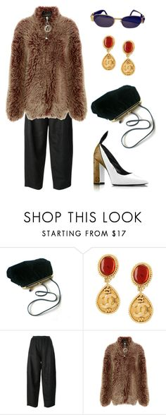 """""""Untitled #983"""" by lucyshenton ❤ liked on Polyvore featuring Retrò, Chanel, MM6 Maison Margiela, E L L E R Y and Versace"""