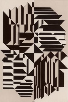 Victor Vasarely - Geminorum 1956-1959. Victor Vasarely was a Hungarian–French artist whose work is generally seen as aligned with Op-art. His work entitled Zebra, created in the 1930s, is considered by some to be one of the earliest examples of Op-art. Vasarely died in Paris in 1997.