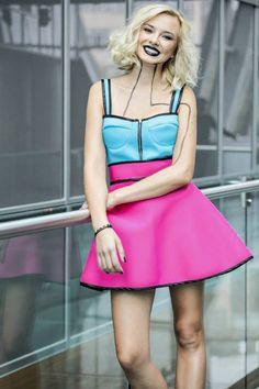 Natalia Nykiel – Voice of Poland Dress Outfits, Dress Shoes, Dresses, Poland, Corset, The Voice, Singer, Celebrities, Skirts