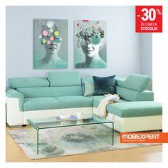 Canapeaua Aston este simbolul confortului si bunului-gust.  #canapea #living #mobexpert Living, Couch, Furniture, Home Decor, Settee, Decoration Home, Sofa, Room Decor, Home Furnishings